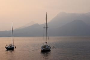 Lake Como Sailboats III by Rita Crane