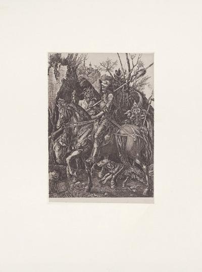 Ritter,Tod + Teufel (s/w)-Albrecht D?rer-Collectable Print