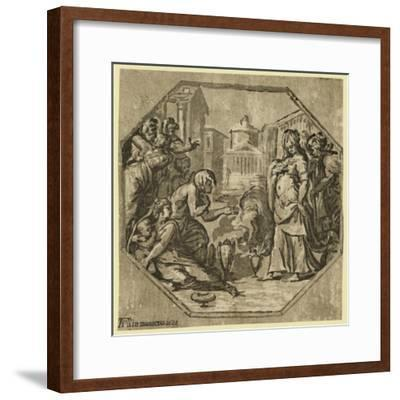Ritual in Honor of Psyche. 1602. Chiaroscuro Woodcut--Framed Giclee Print