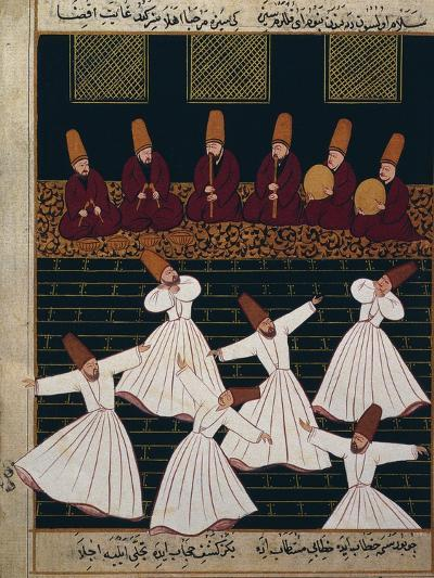Ritual of the Whirling Dervishes at Konya--Giclee Print