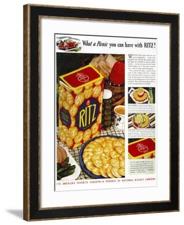 Ritz Crackers Ad, 1940--Framed Giclee Print