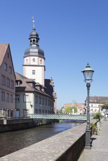 River Alb and Town Hall, Ettlingen, Baden-Wurttemberg, Germany-Markus Lange-Photographic Print