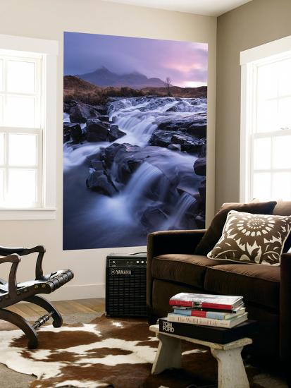 River Allt Dearg Mor Tumbling over a Series of Waterfalls in Glen Sligachan, Isle of Skye, Scotland-Adam Burton-Wall Mural