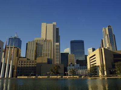 River and City Skyline of Dallas, Texas, United States of America, North America-Rennie Christopher-Photographic Print
