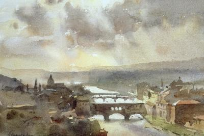 River Arno, Florence-Trevor Chamberlain-Giclee Print