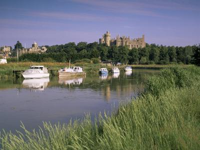 River Arun and Castle, Arundel, West Sussex, England, United Kingdom-John Miller-Photographic Print