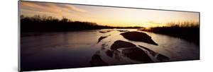 River at Sunset, Platte River, Nebraska, USA