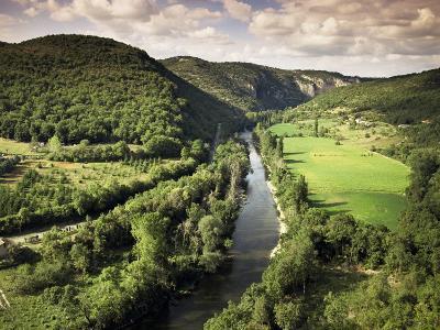 River Aveyron Near St. Antonin Noble Val, Midi Pyrenees, France-Michael Busselle-Photographic Print
