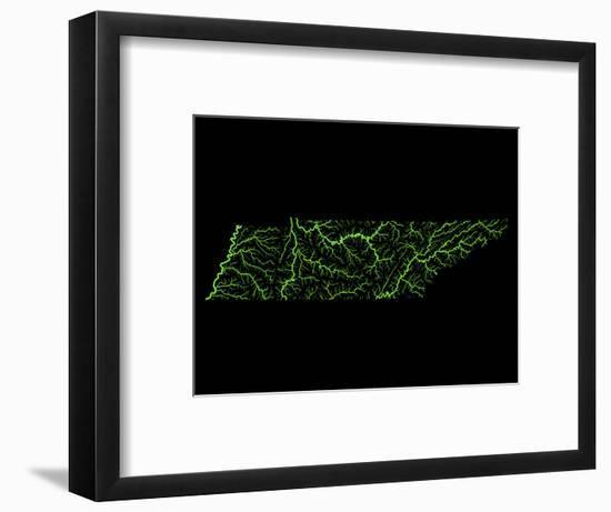 River Basins Of Tennessee In Rainbow Colours-Grasshopper Geography-Framed Giclee Print