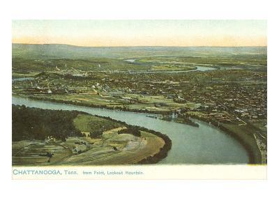 River Bend, Chattanooga, Tennessee--Art Print