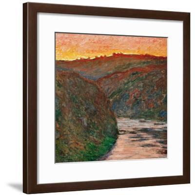River Bend-Claude Monet-Framed Giclee Print