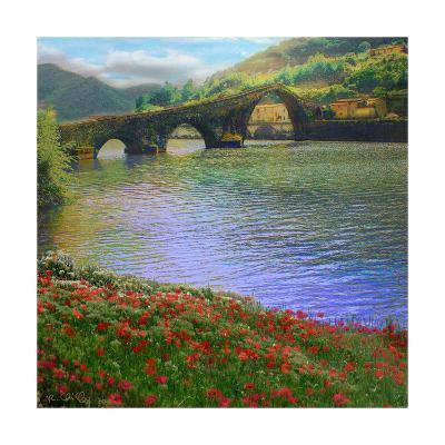 River Bridge-Chris Vest-Art Print