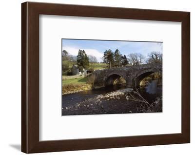 River Caldew and Road Bridge at Sebergham, Cumberland, 20th century-CM Dixon-Framed Photographic Print