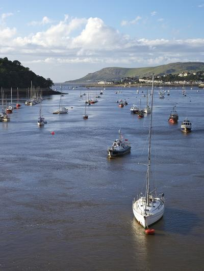 River Conwy Estuary Looking to Deganwy and Great Orme, Llandudno, Summer, Gwynedd, North Wales, UK-Peter Barritt-Photographic Print