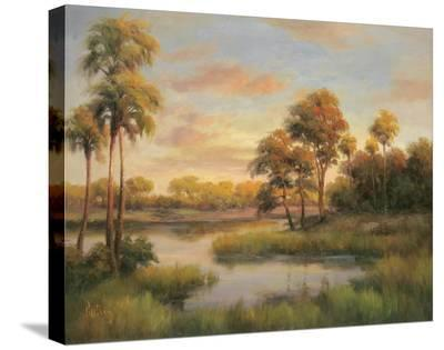 River Cove With Palms II-R Rutley-Stretched Canvas Print