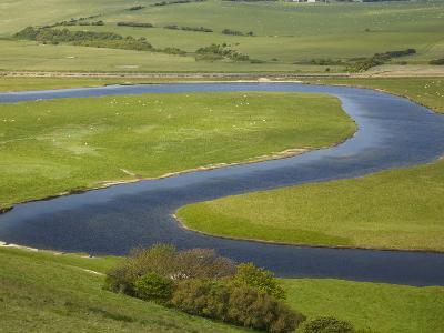 River Cuckmere, Near Seaford, East Sussex, England-David Wall-Photographic Print