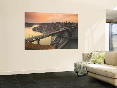 River Douro and Dom Luis I Bridge, Porto, Portugal-Alan Copson-Wall Mural