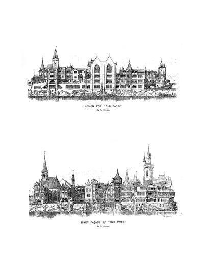 River Facade and Design for Old Paris, 1899-A Robida-Giclee Print