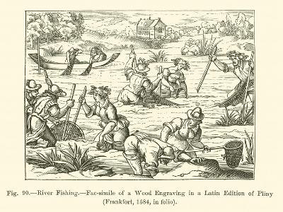 River Fishing--Giclee Print