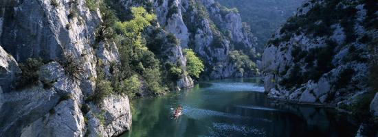 River Flowing Between Mountains, Verdon River, France--Photographic Print