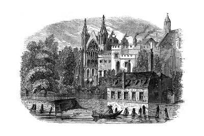 River Front of the Old House of Peers (House of Lord), London, 19th Century--Giclee Print