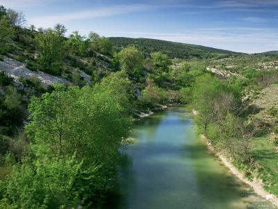 River Herault, Near St. Guilhem Le Desert, Languedoc-Roussillon, France-Michael Busselle-Photographic Print