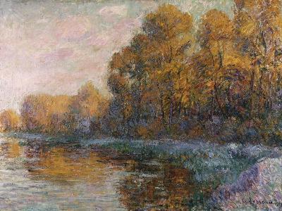 River in Autumn, 1909-Eug?ne Boudin-Giclee Print