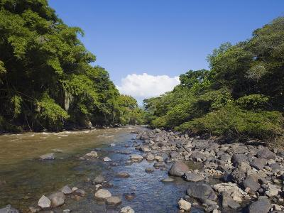 River in El Gallineral Park, San Gil, Colombia, South America-Christian Kober-Photographic Print