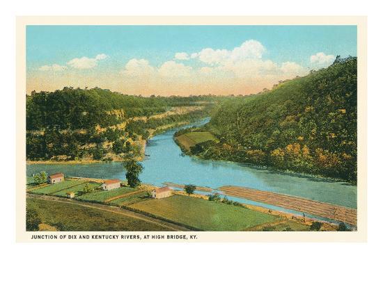 River Junction, High Bridge, Kentucky--Art Print