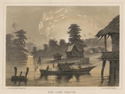 River Jurono, Singapore, 1855-Wilhelm Joseph Heine-Giclee Print