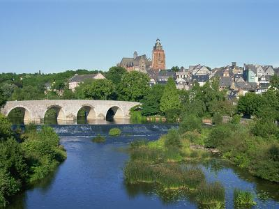 River Lahn, Old Town and Cathedral, Wetzlar, Hesse, Germany, Europe-Hans Peter Merten-Photographic Print