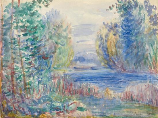 River Landscape, 1890-Pierre-Auguste Renoir-Giclee Print