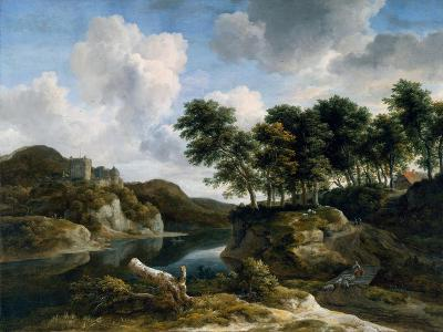 River Landscape with a Castle on a High Cliff, 1670s-Jacob Isaaksz^ Or Isaacksz^ Van Ruisdael-Giclee Print