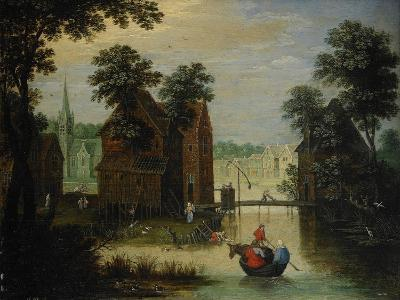 River Landscape with the Flight into Egypt, 1616-Maerten Ryckaert-Giclee Print