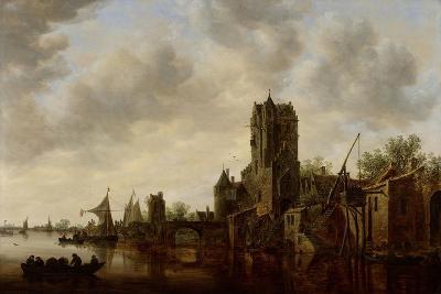 River Landscape with the Pellecussen Gate Near Utrecht, 1648-Jan Van Goyen-Giclee Print