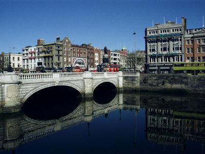 River Liffey and O'Connell Bridge, Dublin, Eire (Republic of Ireland)-Hans Peter Merten-Framed Photographic Print