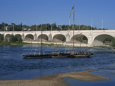 River Loire and Wilson Bridge, Tours, Centre, France, Europe-Thouvenin Guy-Photographic Print