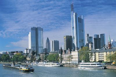 River Main, Frankfurt, Germany-Peter Adams-Photographic Print