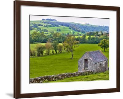 River Manifold Valley Near Ilam, Peak District National Park, Derbyshire, England-Alan Copson-Framed Photographic Print