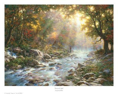 River Of Light-Larry Dyke-Art Print