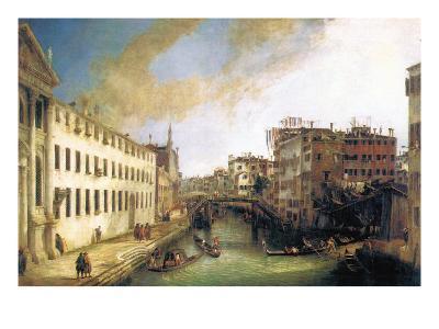 River of Mendicanti-Canaletto-Art Print