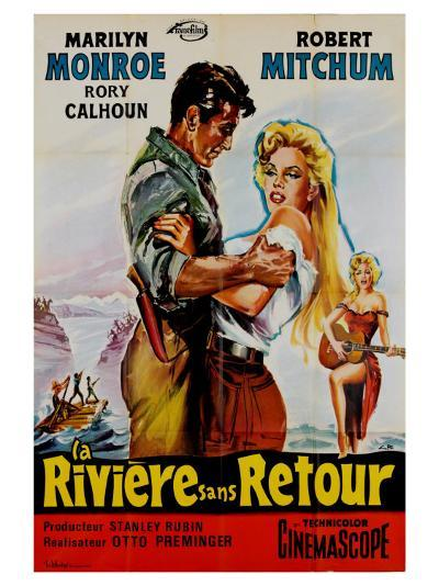 River of No Return, French Movie Poster, 1954--Art Print