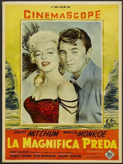 River of No Return, Italian Movie Poster, 1954--Art Print