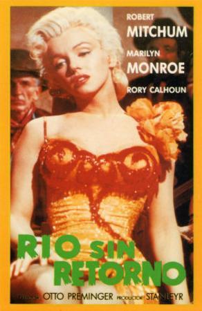 River of No Return, Spanish Movie Poster, 1954