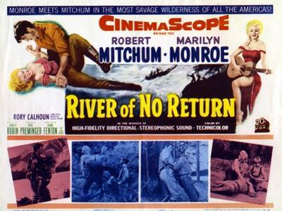 River of No Return, UK Movie Poster, 1954
