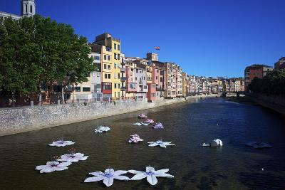 River Onyar During the Flower Festival, Girona, Catalonia, Spain-Rob Cousins-Photographic Print