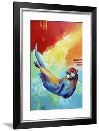 River Otter-Corina St. Martin-Framed Giclee Print