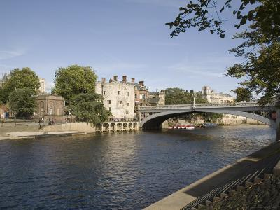 River Ouse with Lendal Bridge and Lendal Tower Beyond, York, Yorkshire, England-Pearl Bucknall-Photographic Print