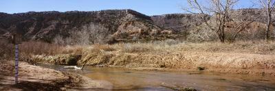 River Passing Through a Landscape, Palo Duro Canyon State Park, Texas, USA--Photographic Print