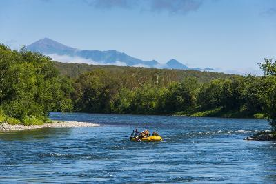 River Rafting on the Bystraya River, Kamchatka, Russia, Eurasia-Michael Runkel-Photographic Print